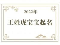 2022年王姓虎宝宝取名大全