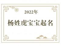 2022年杨姓虎宝宝取名大全