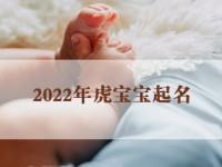2022年虎宝宝起名大全