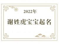 2022年谢姓虎宝宝取名大全