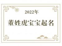 2022年董姓虎宝宝取名大全