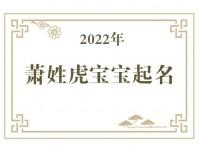 2022年萧姓虎宝宝取名大全
