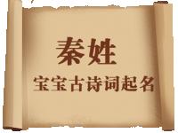 秦姓宝宝古诗词起名大全